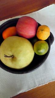 秋の果物盛り