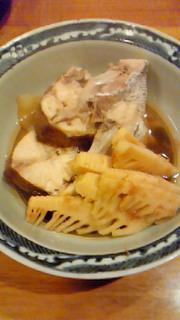 鯛のアラと筍の炊き合わせ