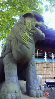 天祖神社の青
