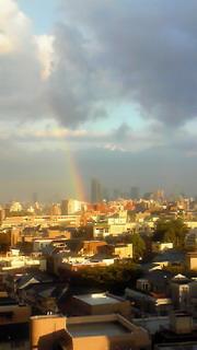 千駄木の虹!