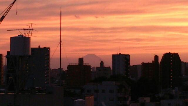 千駄木から富士山