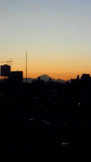 千駄木からの富士山