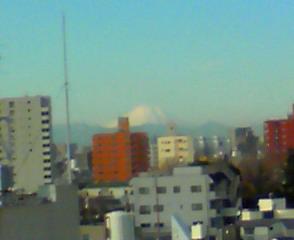 今朝の千駄木からの富士山