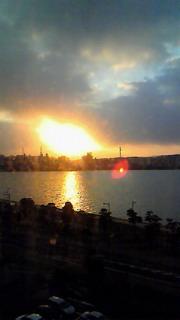 宍道湖の朝日