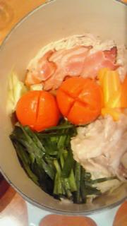 野菜蒸しで、ヘルシーオイシー