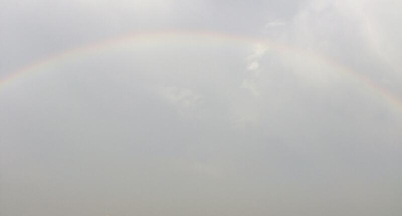 千駄木に架かる虹
