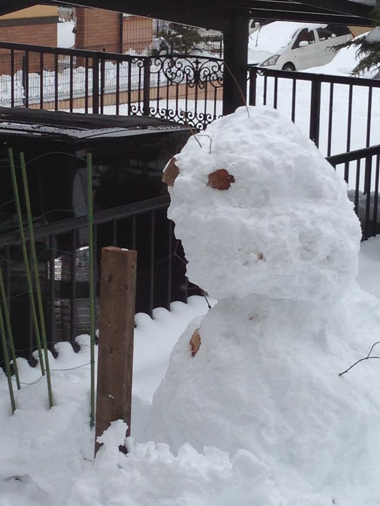 アート?な雪だるま
