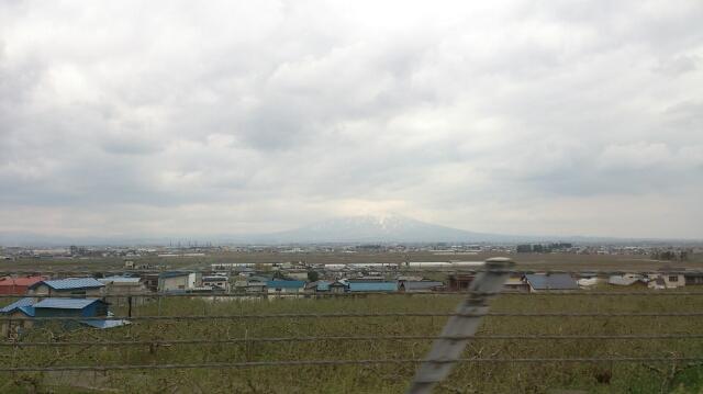 津軽平野と岩木山