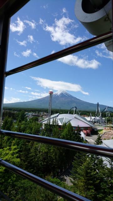 観覧車からの富士山